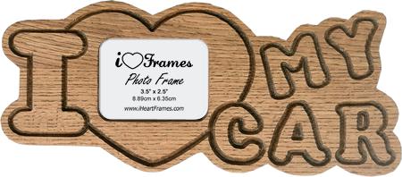 Heart Frame - I Love My Car