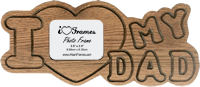 Heart Frame - I Love My Dad Finished