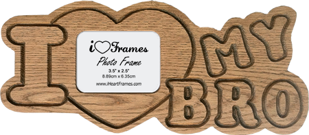 Heart Frame - I Love My Bro