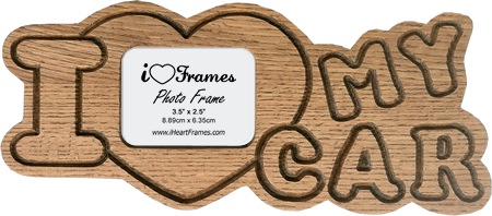 Heart Frame - I Love My Car