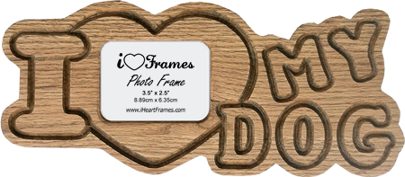 Heart Frame - I Love My Dog